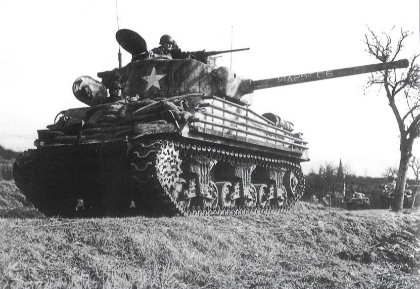 MRT - Sherman-with-sandbagged-hull